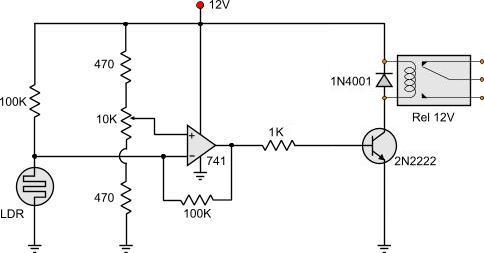 light dark activated relay