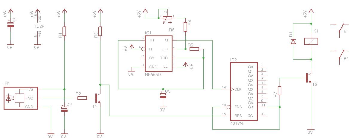 Help In A Circuit Regarding Ir Receiver Tsop1738 And Buzzer
