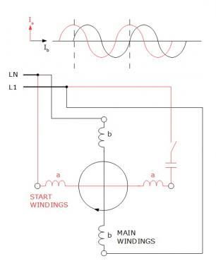 Single Phase Motor Circuit Schematic