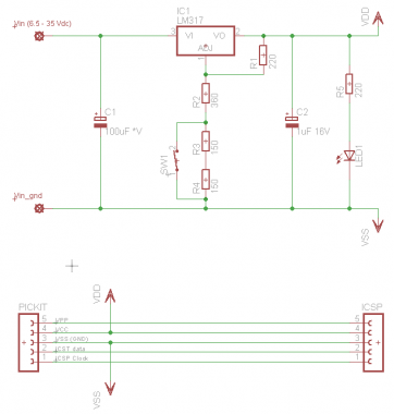 pickit  external dual power supply vv, schematic
