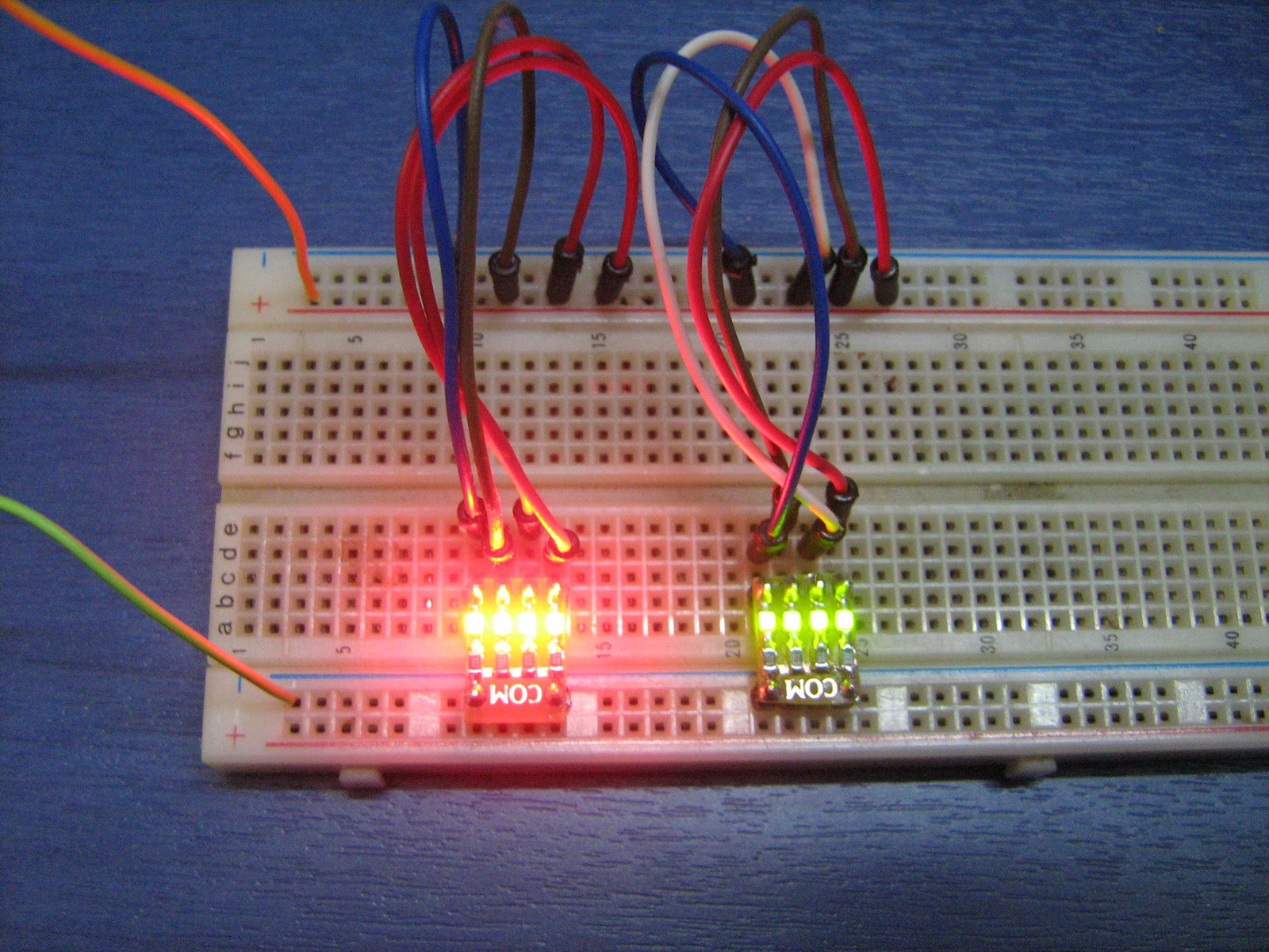 Projects Pcb Heaven Electronic For Beginners Circuits Tiny Led Debugging Board Breadboard Prototyping I Made A Very Simple With 4 Leds And Resistors Pre Wired Mainly